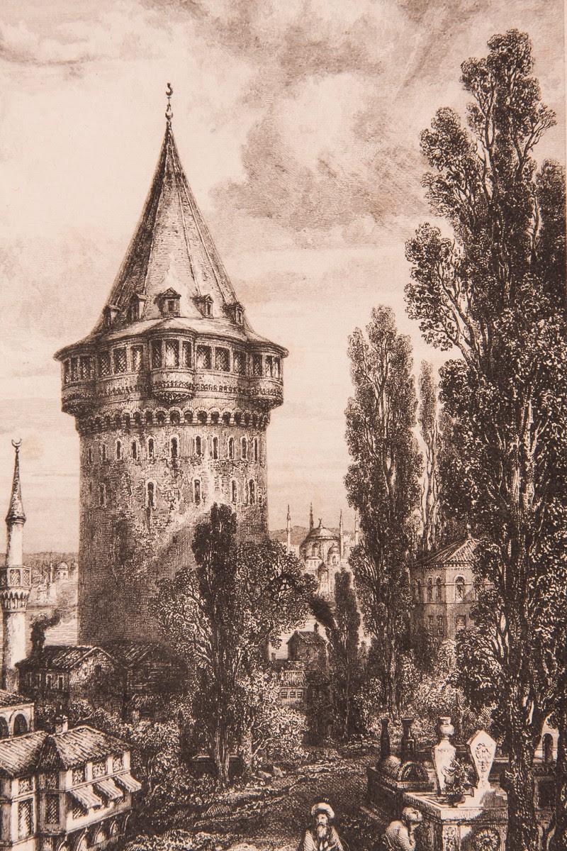 Galata Kulesi Gravür Ev Galeri Alfa