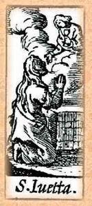Sainte Yvette, Jutte, recluse à Huy (+ 1228)