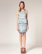 TBA Tartan Silk Organza Skirt