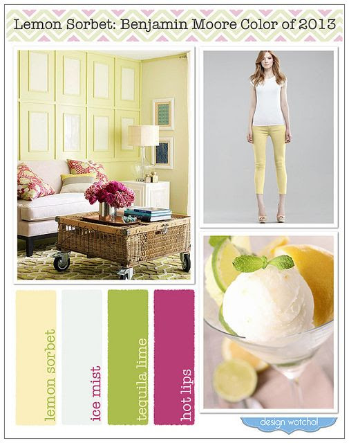 lemon sorbet, color of year 2013, benjamin moore