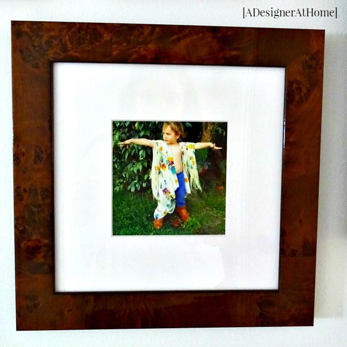 custom framed instagram photo boho child