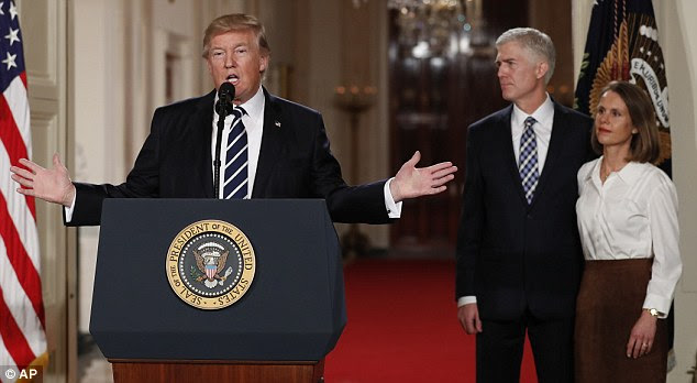President Trump called Gorsuch 'among the finest and the most brilliant' judges'