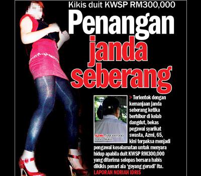 Penangan janda seberang, jaga dikikis RM 300,000 wang KSWP - Terbakor