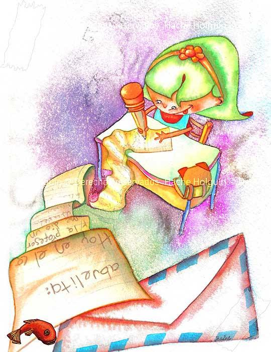 Ilustración infantil de Hache Holguín