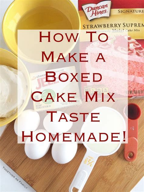 How to make a boxed cake mix taste homemade (?doctored up
