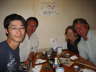 Shushi Dinner with Tasaki-san and Surida-san