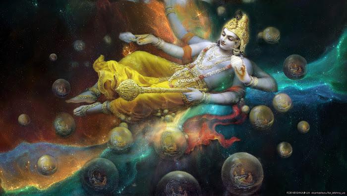 Vishnu est l'un des trois aspects de la Trinité hindoue qui est responsable du maintien de l'Univers.