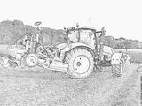Coloriages à Imprimer Tracteur Numéro 7627