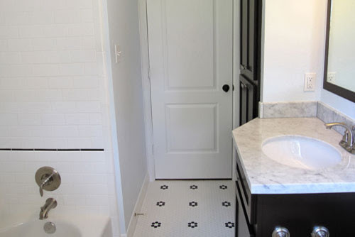 Penny Tile & Subway Tile Bathroom