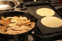 frying taco shells