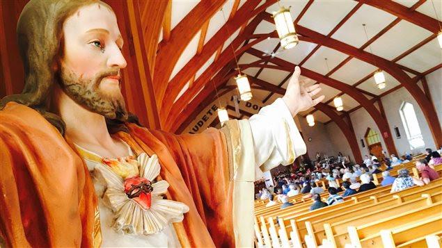 Le Sacré-Coeur de l'église de Saint-Justin a été vendu pour 250$.