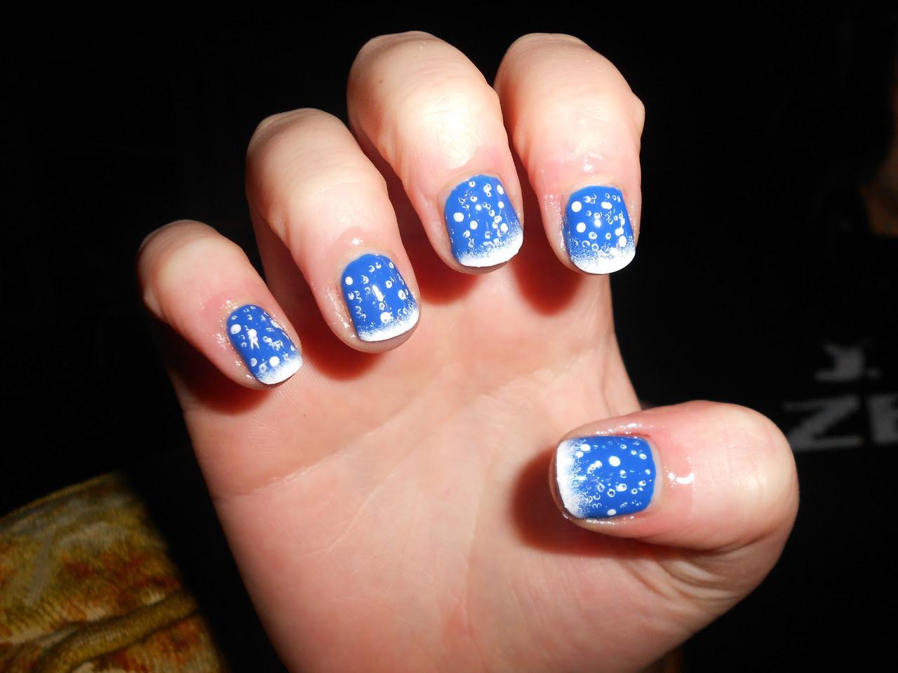 Kaylen's winter wonderland nails!