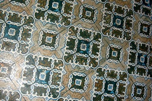 kitchen floor - before