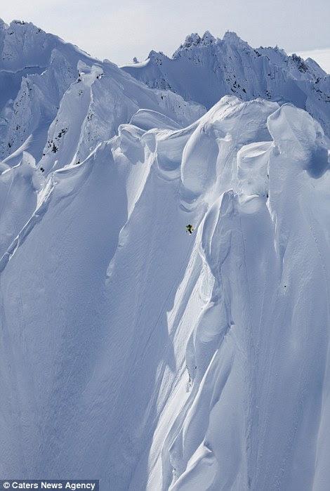 Alaska has some unbelievable vertical ski drops