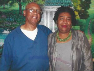 Rev. Edward Pinkney during earlier visit with Marcina Cole.