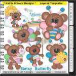 Betsy Butterfly Layered Templates - CU