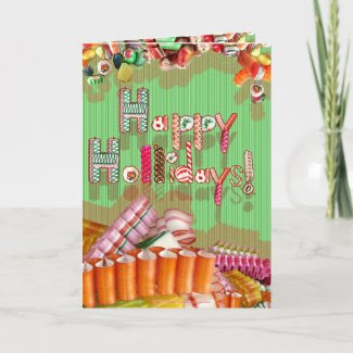 Holiday Candy Card card