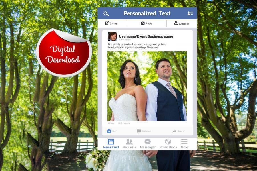 Facebook Frame Custom Design Photo Booth Prop Digital Download