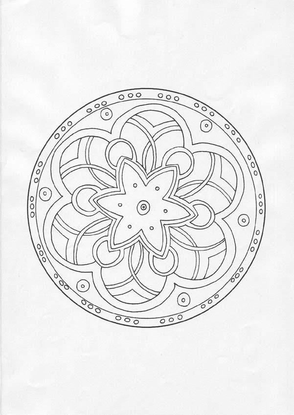 Dibujos Para Colorear Mandala Arcos Y Círculos Eshellokidscom