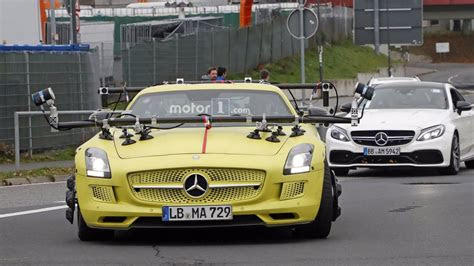 mercedes spotted testing sls amg electric drive