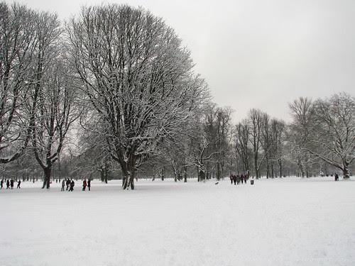 Snow in Kensington Gardens