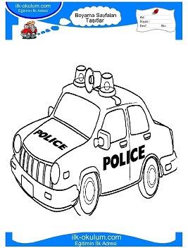 Polis Arabası Boyama Oyunu