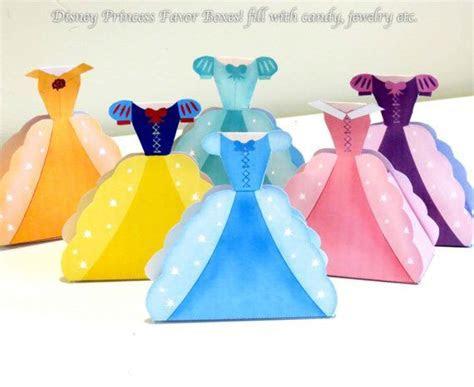 Disney Princess Party Favors Printable Favor Boxes on Etsy