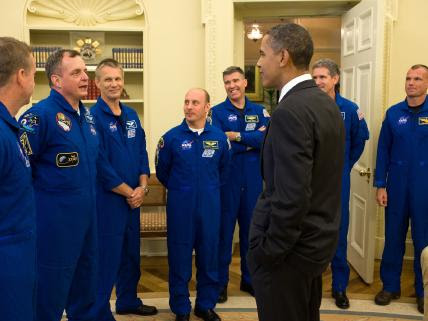Astronauts in the Oval Office