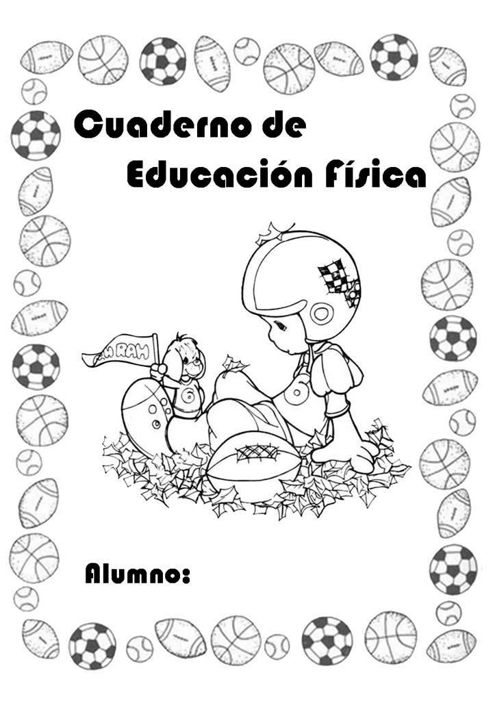 Carátulas De Educación Física Para Cuadernos De Primaria Y
