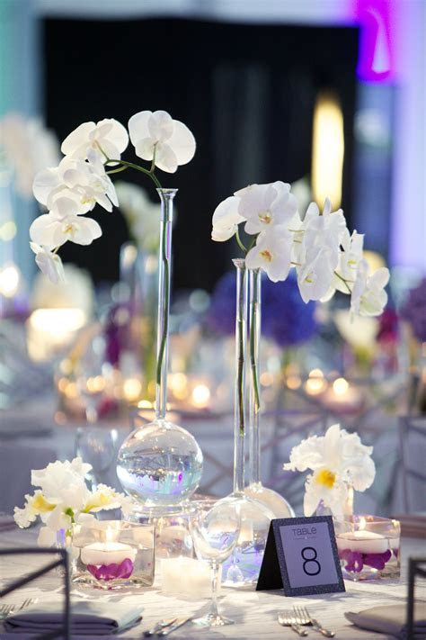 Modern Purple, Blue & White Wedding at Contemporary