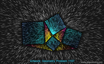 Geometry Art of Problem 1197, Four Squares, Four Triangles, Drawing, Sketch, Light, Warp Speed, Hyperdrive. Computer Tablet, iPad Apps, Software
