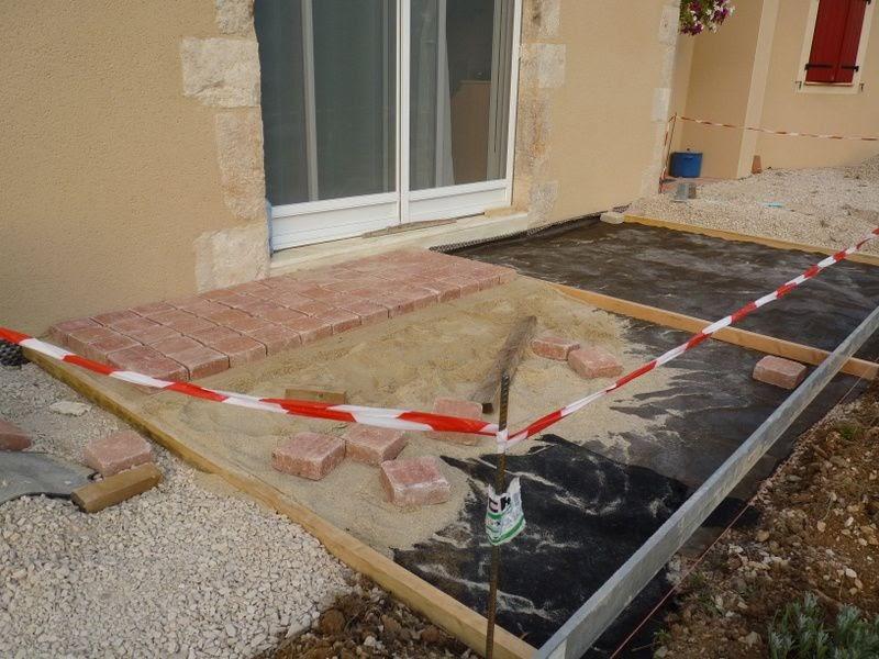 Pour ma famille pose de pave sur dalle beton - Pose de pave sur mortier sec ...