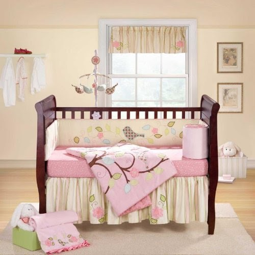 Love Bird 4 Piece Crib Bedding Set Crib Bedding