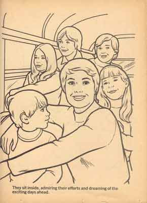 six partridge family colouring book