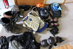 gear for weekend of camping and trail riding