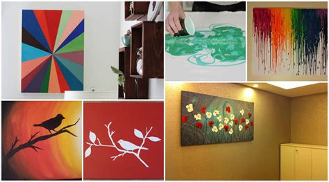 diy simple canvas painting ideas lugenda