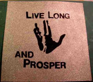 Live Long and Prosper Glitter poster