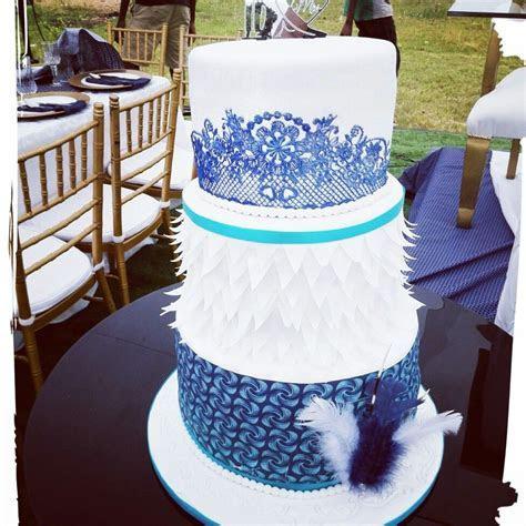 Tswana inspired cake made by Puleng Shiburi   Shweshwe
