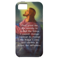 The Serenity Prayer With Jesus Christ Painting iPhone 5 Covers