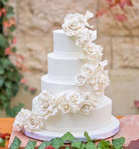 White Roses Wedding Cake   CakeCentral.com
