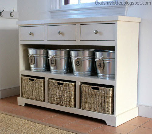 Ana White | 3 Drawer Open Shelf Simple Entryway Console - DIY Projects