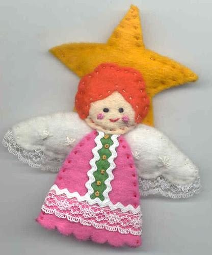 Handmade felt angel