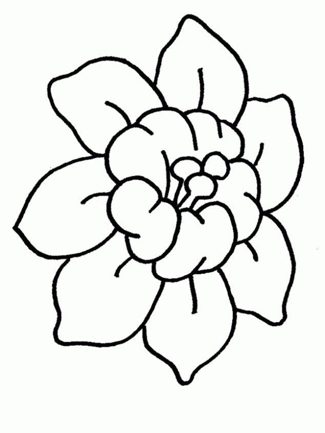 Dibujos Para Colorear Flores Sencillas Az Dibujos Para Colorear