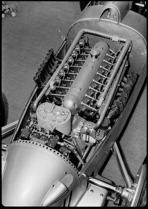 Auto-Union V16 racing car engine, Germany, 1935-1937. by