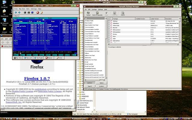 andLinux screen
