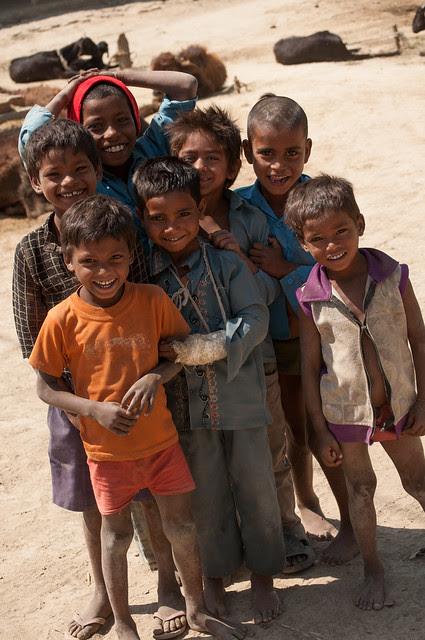 Kids on the village
