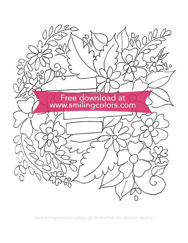 Easy Flower Coloring Page Favecrafts Com