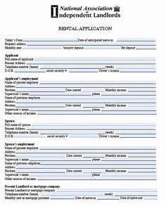 elegant rental application form template   rental