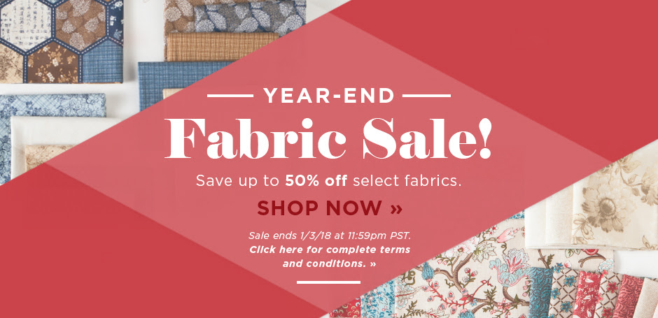 Year End Fabric Sale 2017