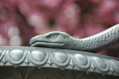 Detail, Calvert Vaux Snake Urn